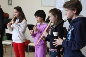 Ensemble de flûtes à bec